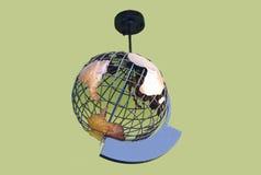 Вися реальный глобус металла стоковые фотографии rf