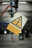 Вися старый знак сигнала тревога возгласа Стоковое Изображение RF