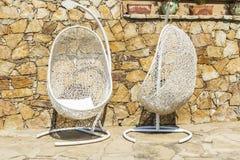2 вися стуль на террасе Стоковое Изображение RF