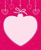 Вися форма сердца Стоковые Фотографии RF