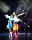 Витайте---Народный танец Монголии стоковые изображения rf