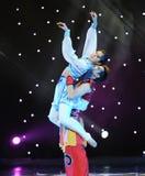 Витайте---Народный танец Монголии стоковое изображение