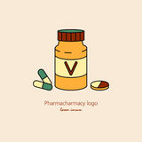 Витамины дизайн, иллюстрация вектора Стоковые Фото