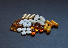 Витамины и минералы Стоковое Изображение RF