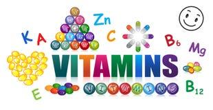 витамины иллюстрация штока
