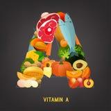 Витамин A в еде Стоковое Изображение RF
