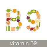 Витамин B9 иллюстрация штока