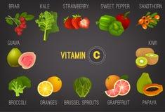 Витамин C в Food-01 Стоковая Фотография