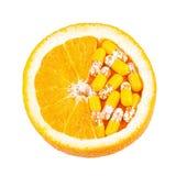 Витамин C как оранжевый плодоовощ Стоковые Фотографии RF