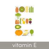 Витамин e иллюстрация вектора