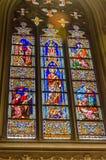Витражи собора ` s St. Patrick Стоковая Фотография