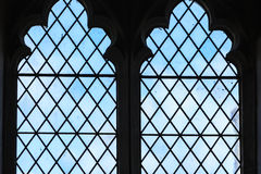 Витраж в церков, Bibury Англии Стоковые Изображения