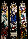 Витраж в церков St Nicholas в Ливерпуле стоковые изображения rf