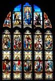Витраж жизни Иисуса Montargis стоковое изображение rf