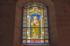Витраж собора Луго Стоковая Фотография