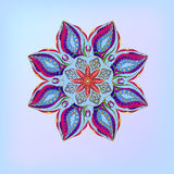 Витраж цветка орнамента Стоковые Фотографии RF