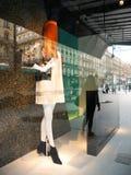 Витрина 2016 моды Парижа Printemps Стоковая Фотография