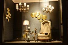 Витрина освещения мебели стоковое изображение rf