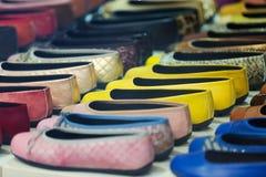 Витрина с женскими ботинками Стоковое Изображение