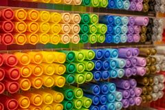 Витрина с яркими красочными отметками стоковые изображения rf