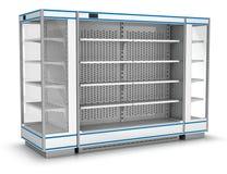 Витрина холодильника для супермаркета Стоковые Изображения RF