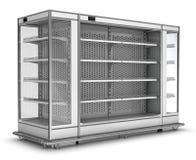 Витрина холодильника для супермаркета Стоковые Изображения