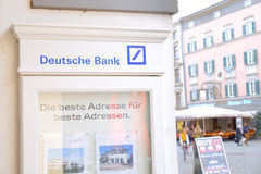 Витрина Deutsche Bank стоковое фото