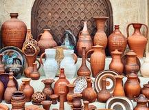 Витрина handmade керамического Стоковые Изображения