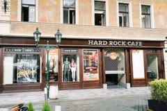 Витрины магазина Hard Rock Cafe в Праге стоковое изображение rf
