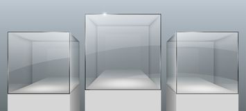 Витрины от стекла иллюстрация вектора