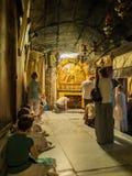 ВИФЛЕЕМ - 12-ОЕ ИЮЛЯ 2015: Традиционное место рождения  Стоковое Изображение RF