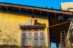 вихруны Любовь Крыша Современное искусство outdoors Стоковое Изображение
