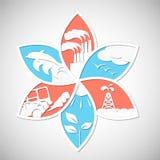 вихруны мира eco принципиальной схемы Сохраньте мир Стоковая Фотография
