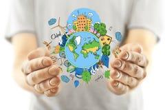 вихруны мира eco принципиальной схемы Стоковое Фото