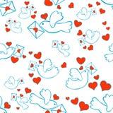 вихруны письма сердец безшовные Стоковые Фотографии RF
