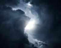 Вихрь в облаках стоковая фотография rf