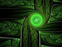 Вихрь зеленой абстрактной фрактали завихряясь бесплатная иллюстрация