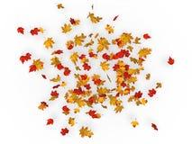 Вихрь листьев осени иллюстрация штока