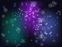 Вихрь снежинок для рождества иллюстрация графика феиэрверков eps10 предпосылки черная иллюстрация вектора