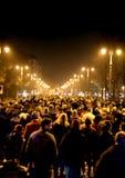 Виченца, VI, Италия 15-ое ноября 2015, много людей маршируя внутри Стоковые Фото