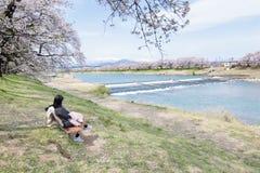 Вишневые цвета на Sendai Стоковые Изображения