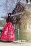 Вишневый цвет весной на дворце Gyeongbokgung стоковые фото