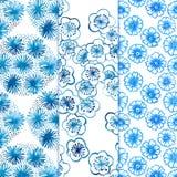 Вишневый цвет картины для традиционной керамики Азии. иллюстрация вектора