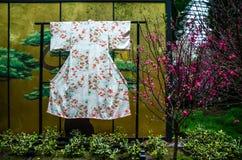 Вишневый цвет на саде заливом Стоковая Фотография RF