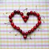 Вишни в в форме сердц шаре Стоковое фото RF