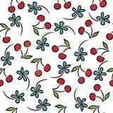 вишни делают по образцу безшовное Стоковое Изображение