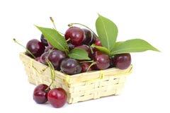 вишни корзины полные Стоковое Изображение RF