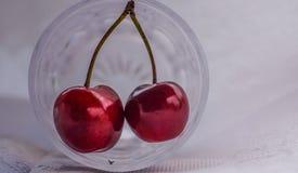 вишни одна белизна плиты сладостная Стоковые Изображения RF