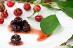 вишни прокишут сироп Стоковое Фото