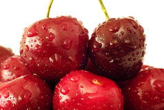 вишни свежие стоковое изображение